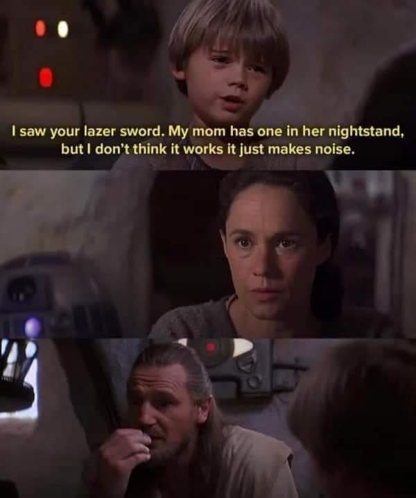 Lazer sword in mom's nightstand