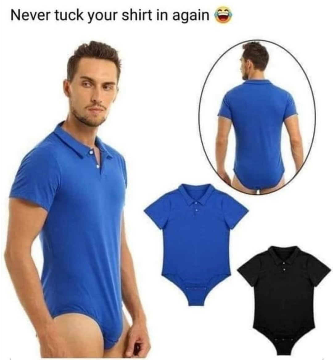 Never tuck your shirt in again