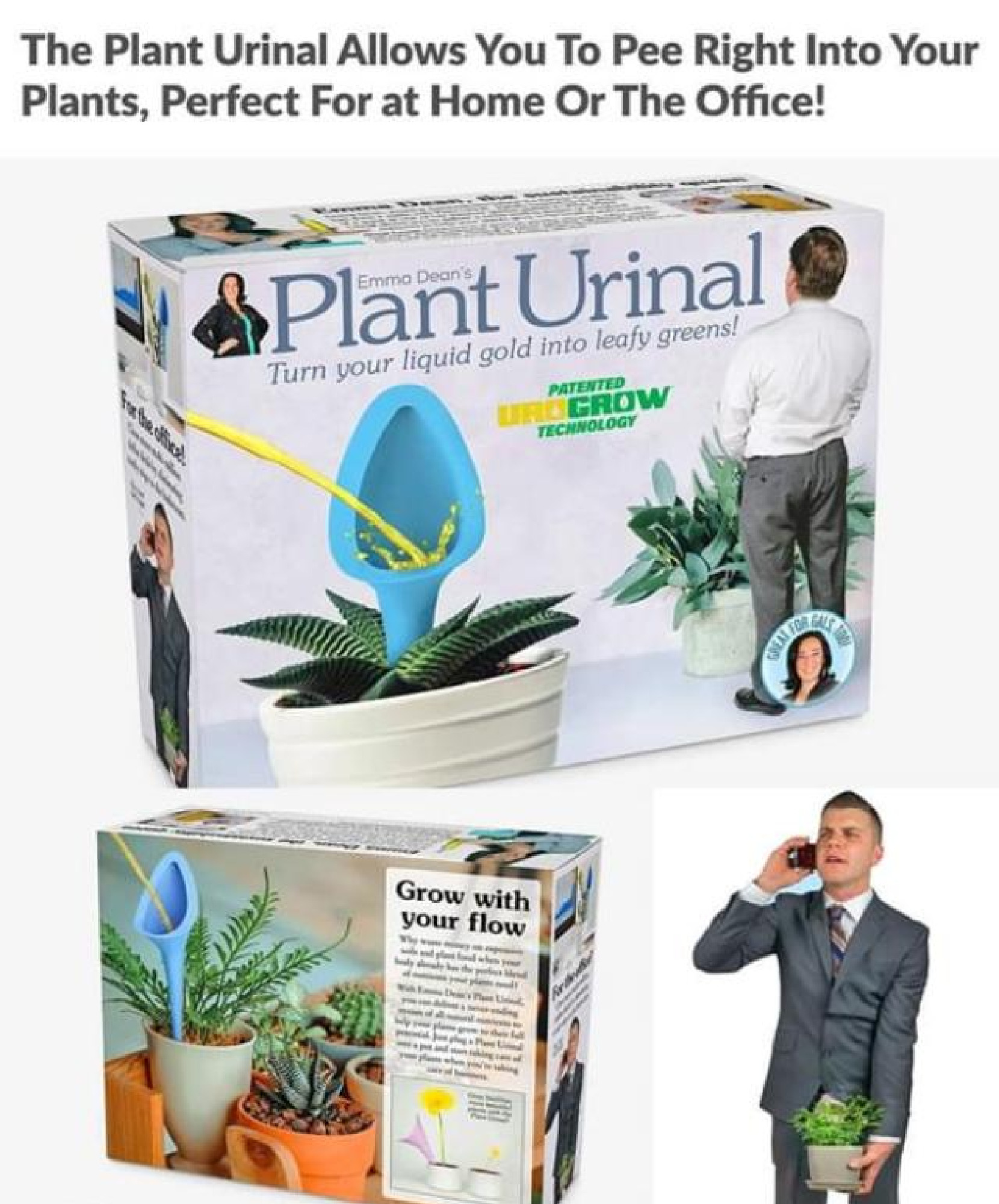 Plant Urinal – turn your liquid gold into leafy greens!