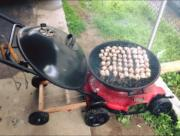 lawn mower barbecue
