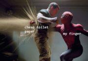 Cheap toilet paper vs my finger