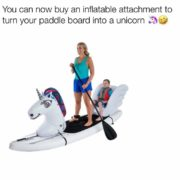 Turn your paddle board into a unicorn
