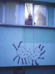 Big dick street art