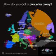 How do you call a place far away