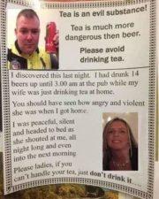 Tea is an evil substance