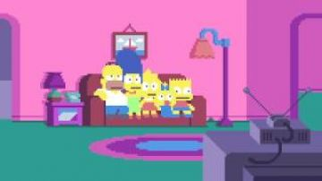 "Pixel tribute to the hit series ""The Simpsons"""