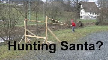 """The Santa Slayer"" – Launching Christmas Trees With The Slingshot"